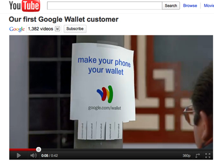Google takes to Youtube to hype wallet