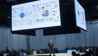 Fintech expert Chris Skinner gave his advice in a format new to Money 20/20 this year: The Forum. Staged like theater-in-the-round, Forum presentations were broadcast to audience members via wireless headsets.