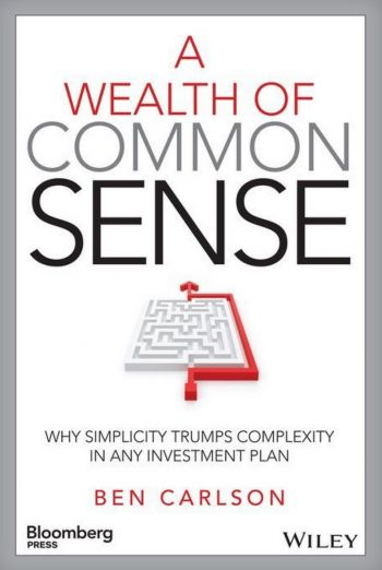 A Wealth of Common Sense: Why Simplicity Trumps Complexity In Any Investment Plan. By Ben Carlson. Bloomberg Press/Wiley. 224 pp.