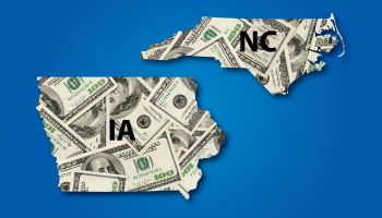Projections favor Iowa, N.C. banking