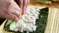 Making a California roll … up
